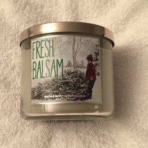 Bath & Body Works Fresh Balsam 3-Wick Candle